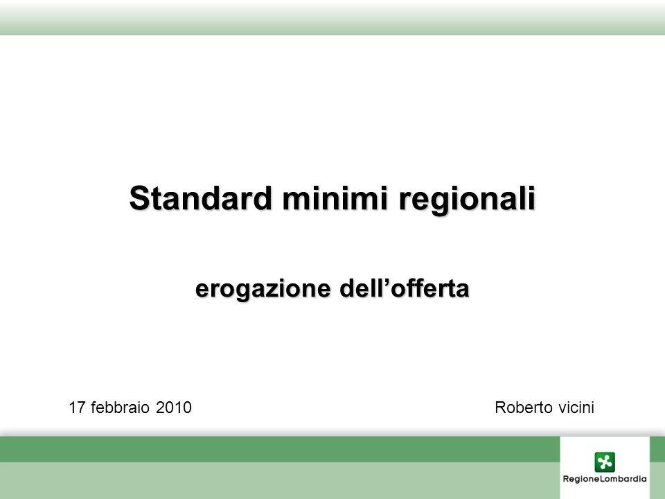 Standard minimi regionali erogazione dellofferta 17 febbraio 2010Roberto vicini