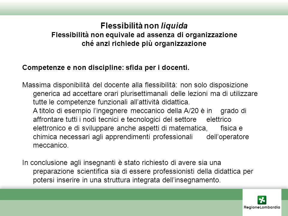 Competenze e non discipline: sfida per i docenti.