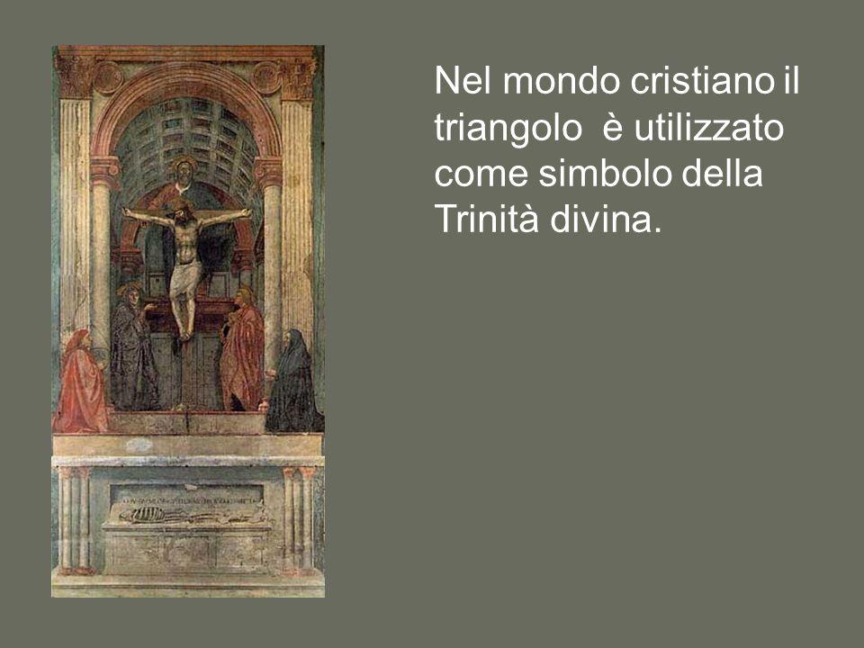 Nel mondo cristiano il triangolo è utilizzato come simbolo della Trinità divina.