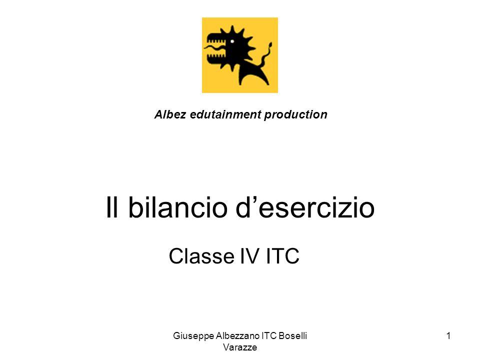 Giuseppe Albezzano ITC Boselli Varazze 2 Bilancio desercizio Stato patrimoniale Situazione patrimoniale e finanziaria Conto economico Situazione economica Nota Integrativa Info aggiuntive, esplicative e complementari ai due documenti