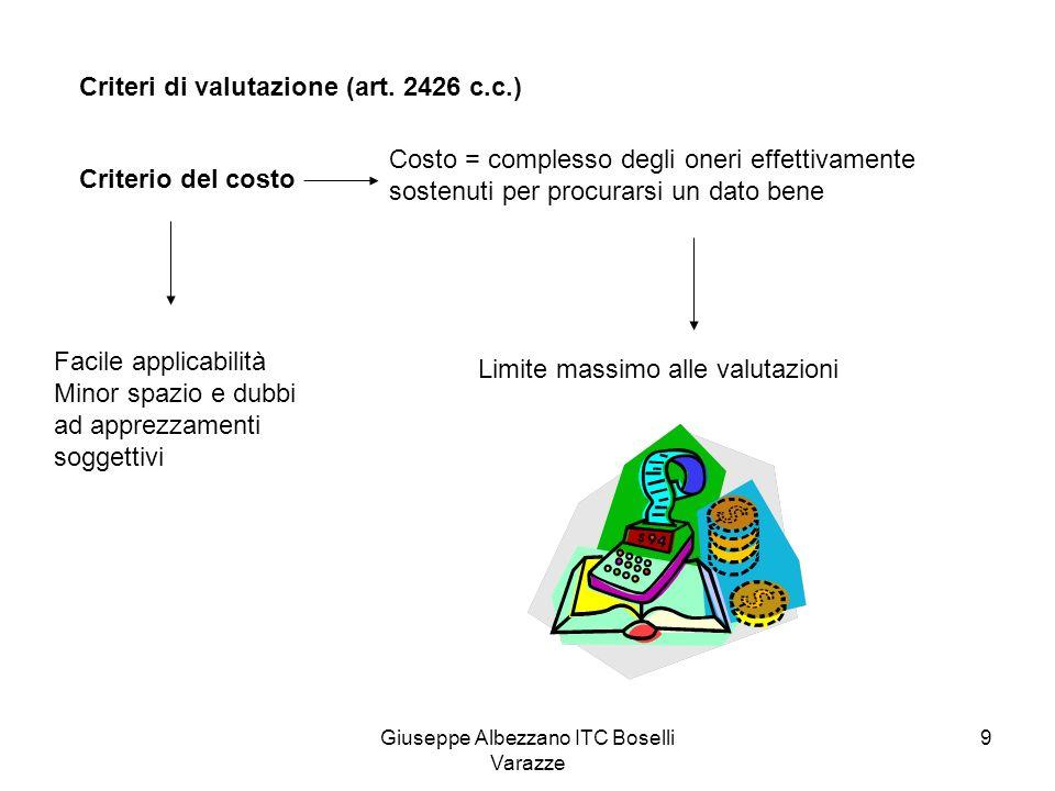 Giuseppe Albezzano ITC Boselli Varazze 10 Criteri di valutazione (art.