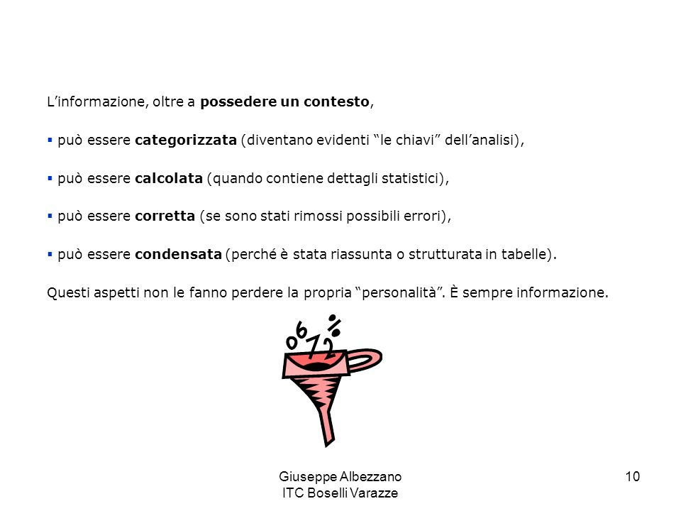 Giuseppe Albezzano ITC Boselli Varazze 11 La conoscenza Risponde alle domande come.