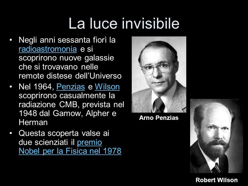 La luce invisibile Negli anni sessanta fiorì la radioastromonia e si scoprirono nuove galassie che si trovavano nelle remote distese dellUniverso radi