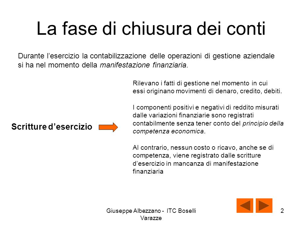 Giuseppe Albezzano - ITC Boselli Varazze 1 Le scritture di chiusura dei conti III classe ITC Albez edutainment production