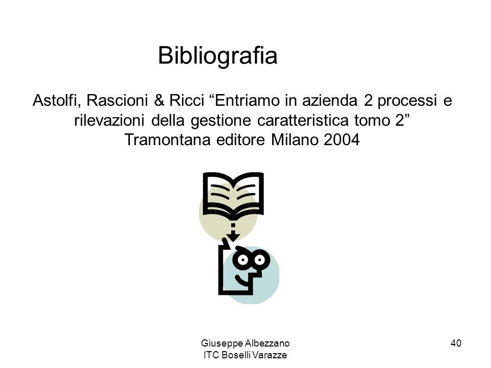 Giuseppe Albezzano ITC Boselli Varazze 40 Astolfi, Rascioni & Ricci Entriamo in azienda 2 processi e rilevazioni della gestione caratteristica tomo 2