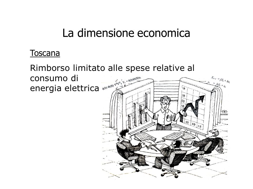 La dimensione economica Toscana Rimborso limitato alle spese relative al consumo di energia elettrica