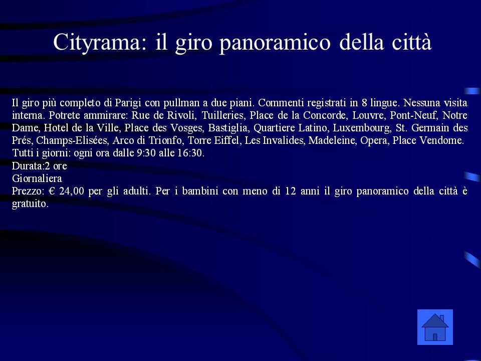 Cityrama: il giro panoramico della città