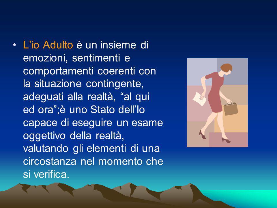 Lio Adulto è un insieme di emozioni, sentimenti e comportamenti coerenti con la situazione contingente, adeguati alla realtà, al qui ed ora;è uno Stat