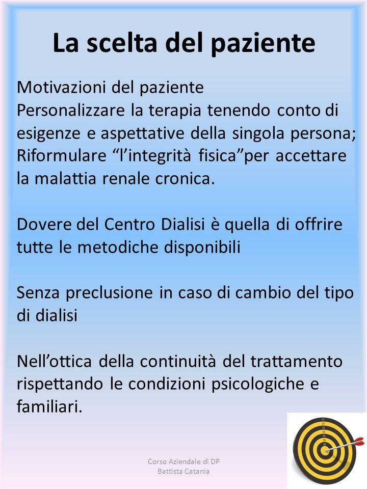 Motivazioni del paziente Personalizzare la terapia tenendo conto di esigenze e aspettative della singola persona; Riformulare lintegrità fisicaper acc