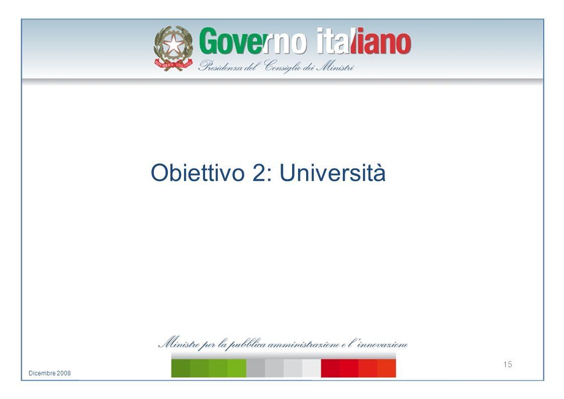 Obiettivo 2: Università 15 Dicembre 2008