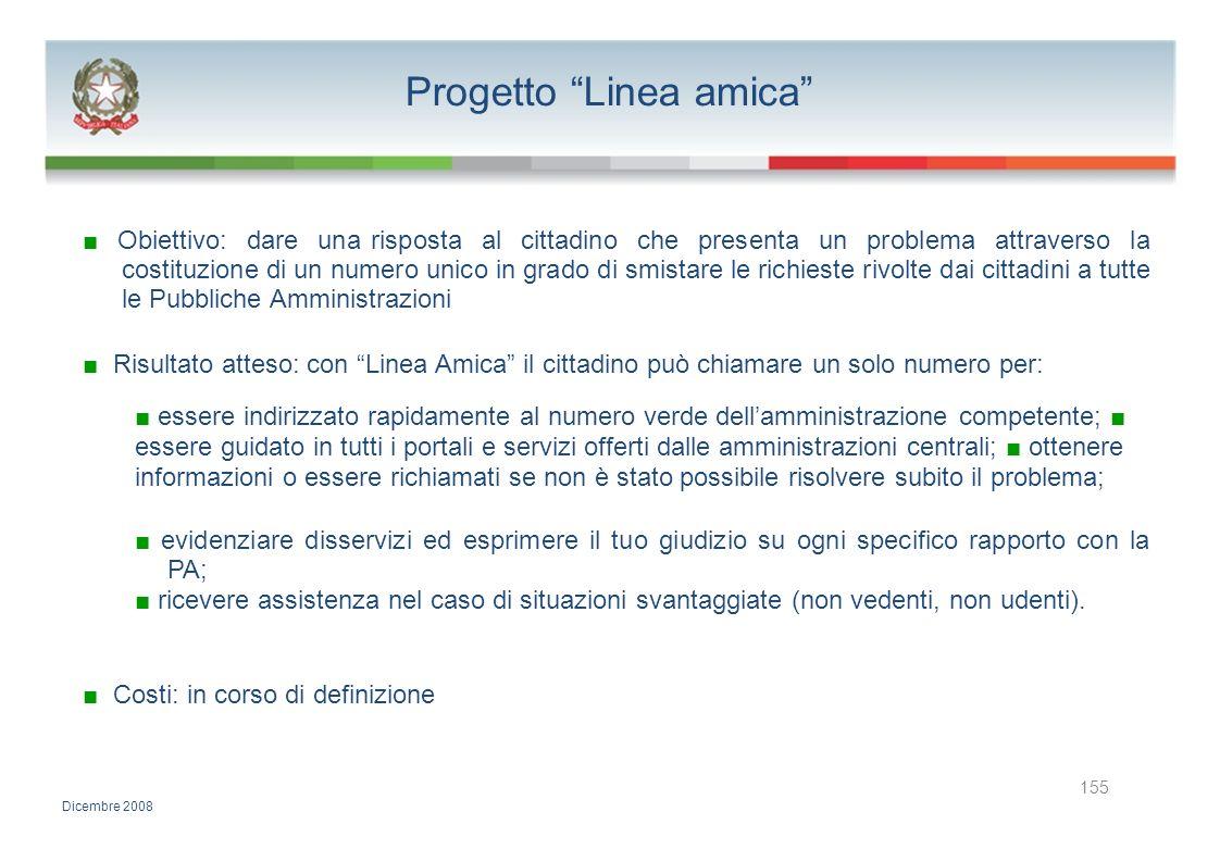 Progetto Linea amica Obiettivo: dare una risposta al cittadino che presenta un problema attraverso la costituzione di un numero unico in grado di smis