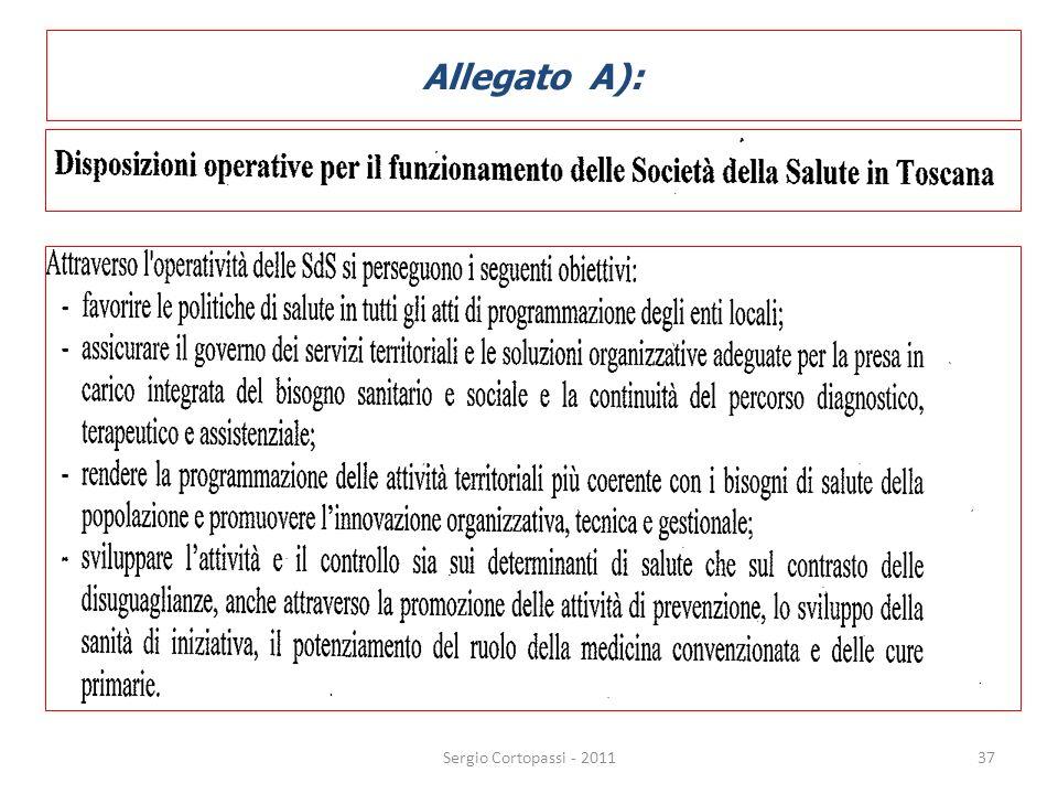 Allegato A): 37Sergio Cortopassi - 2011