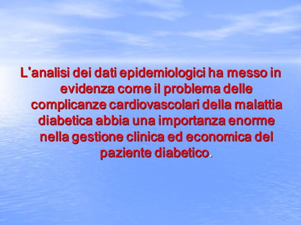 L analisi dei dati epidemiologici ha messo in evidenza come il problema delle complicanze cardiovascolari della malattia diabetica abbia una importanz