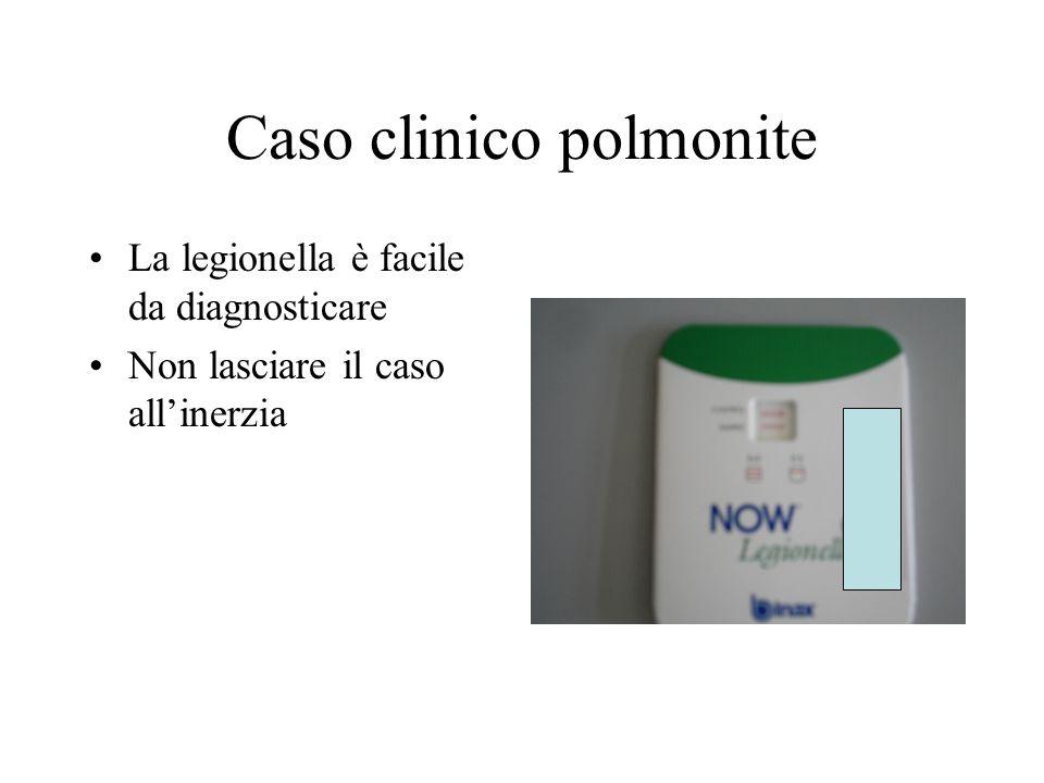 Caso clinico polmonite La legionella è facile da diagnosticare Non lasciare il caso allinerzia