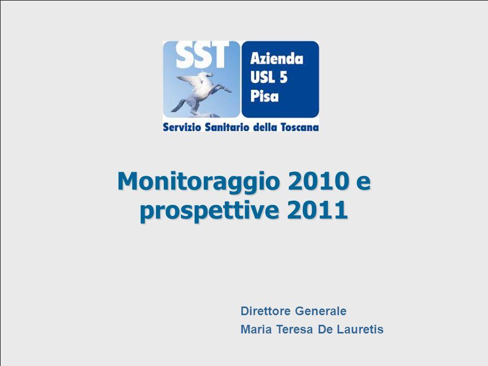 29 settembre 2009 Monitoraggio 2010 e prospettive 2011 Direttore Generale Maria Teresa De Lauretis