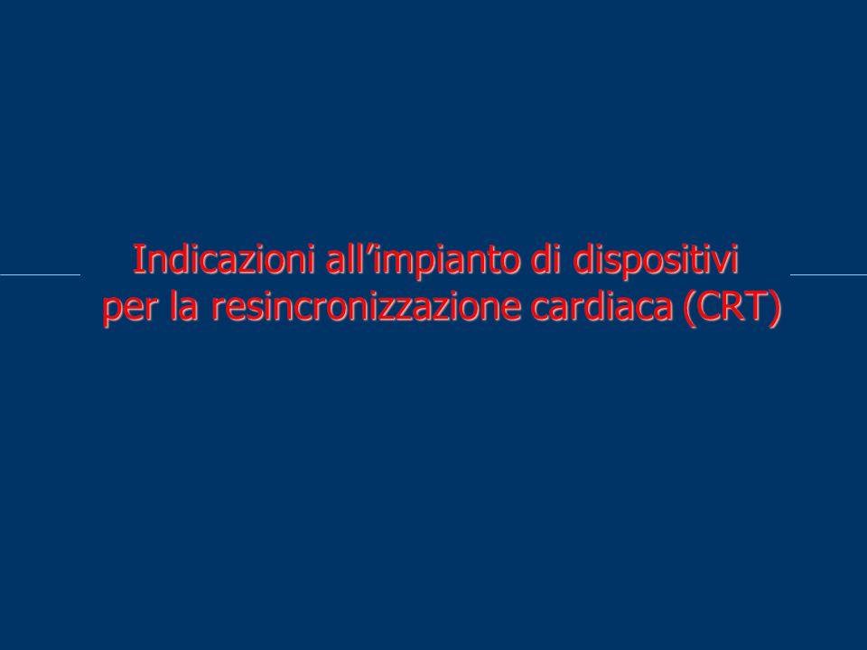 Indicazioni allimpianto di dispositivi per la resincronizzazione cardiaca (CRT)