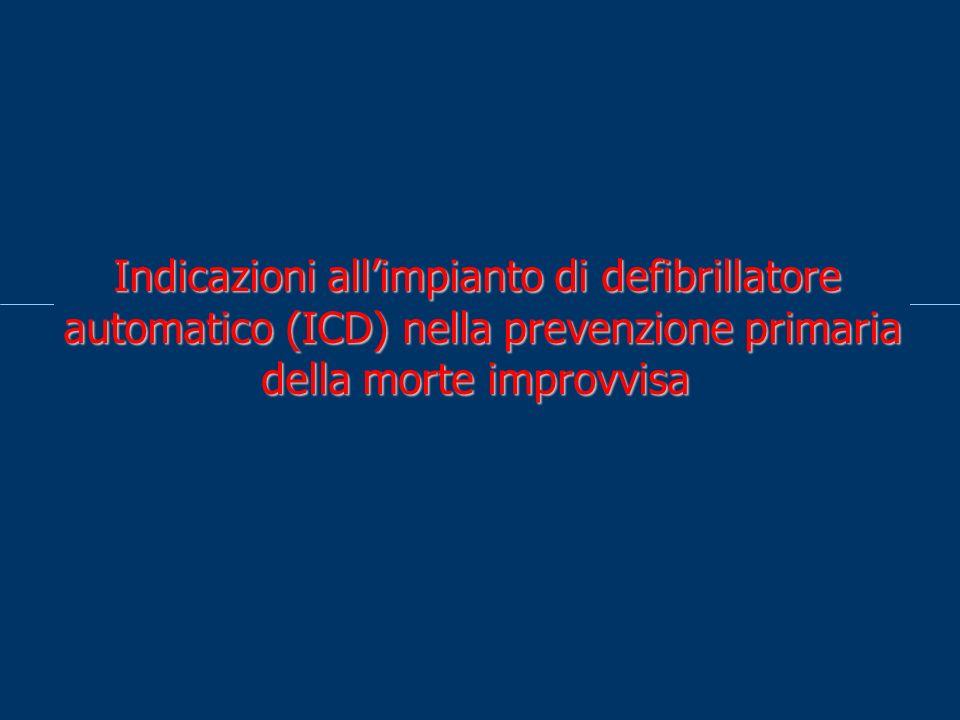 Indicazioni allimpianto di defibrillatore automatico (ICD) nella prevenzione primaria della morte improvvisa
