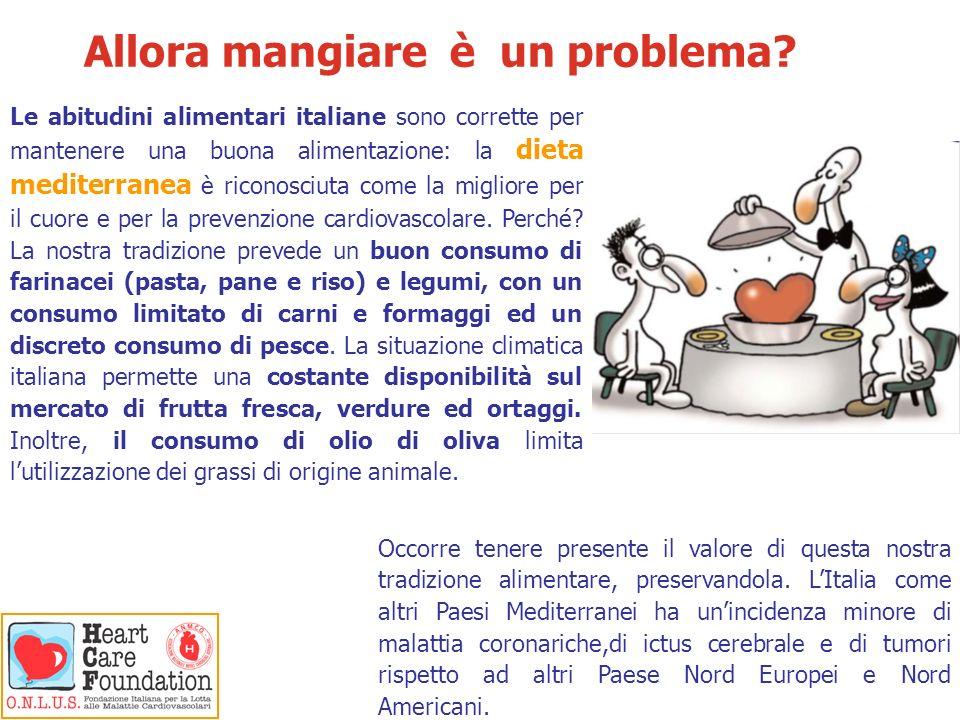Allora mangiare è un problema? Le abitudini alimentari italiane sono corrette per mantenere una buona alimentazione: la dieta mediterranea è riconosci