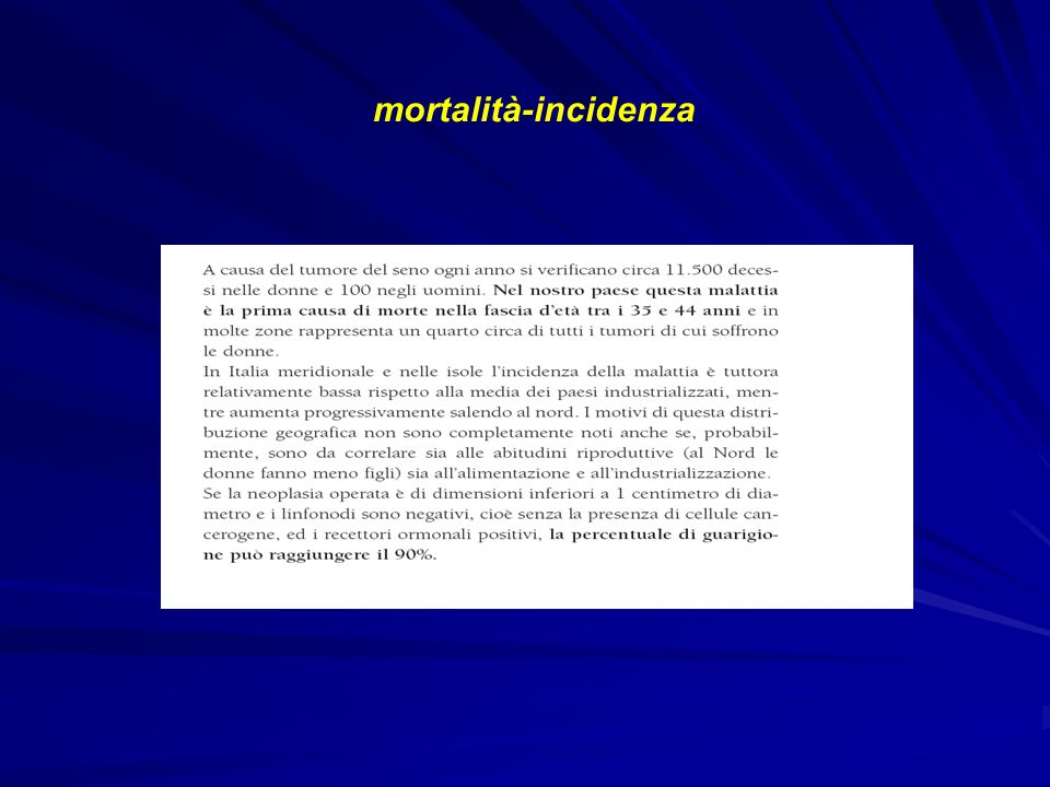mortalità-incidenza