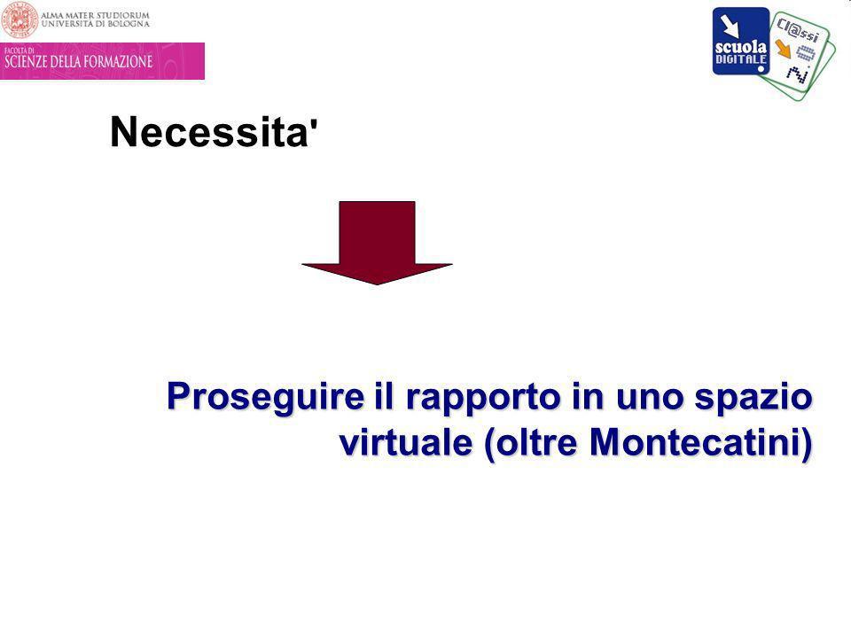Necessita ' Proseguire il rapporto in uno spazio virtuale (oltre Montecatini)