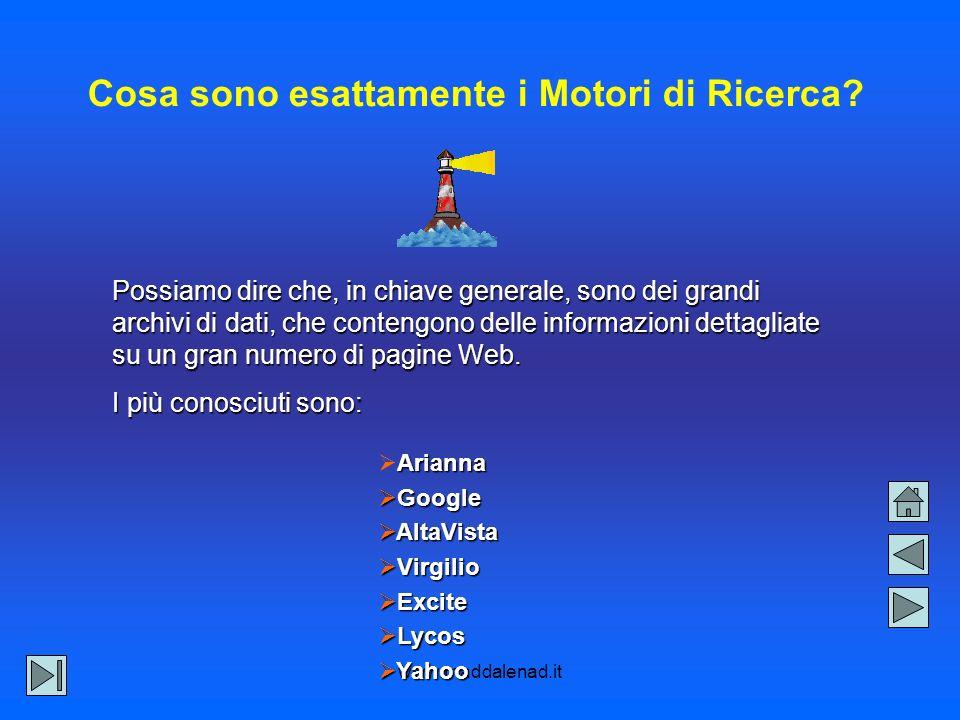 www.maddalenad.it Cosa sono esattamente i Motori di Ricerca.