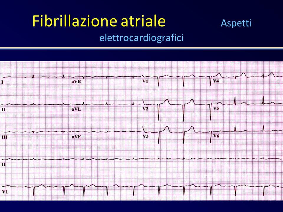Fibrillazione atriale Le raccomandazioni delle linee-guida Pazienti ad alto rischio Pregresso stroke, TIA, embolia periferica Età > 75 anni Moderata o severa funzione ventricolare sinistra Scompenso cardiaco Ipertensione diabete Warfarin Target INR: 2.5 Range: 2.0 – 3.0 CHEST 2004; 126: 429 S – 456 S