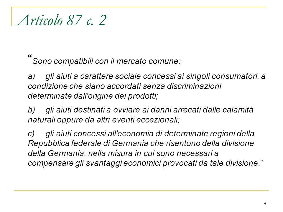 25 REGOLAMENTO (CE) N.