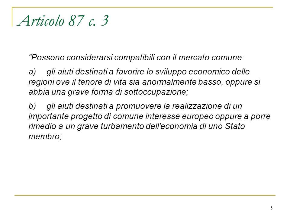 5 Articolo 87 c.