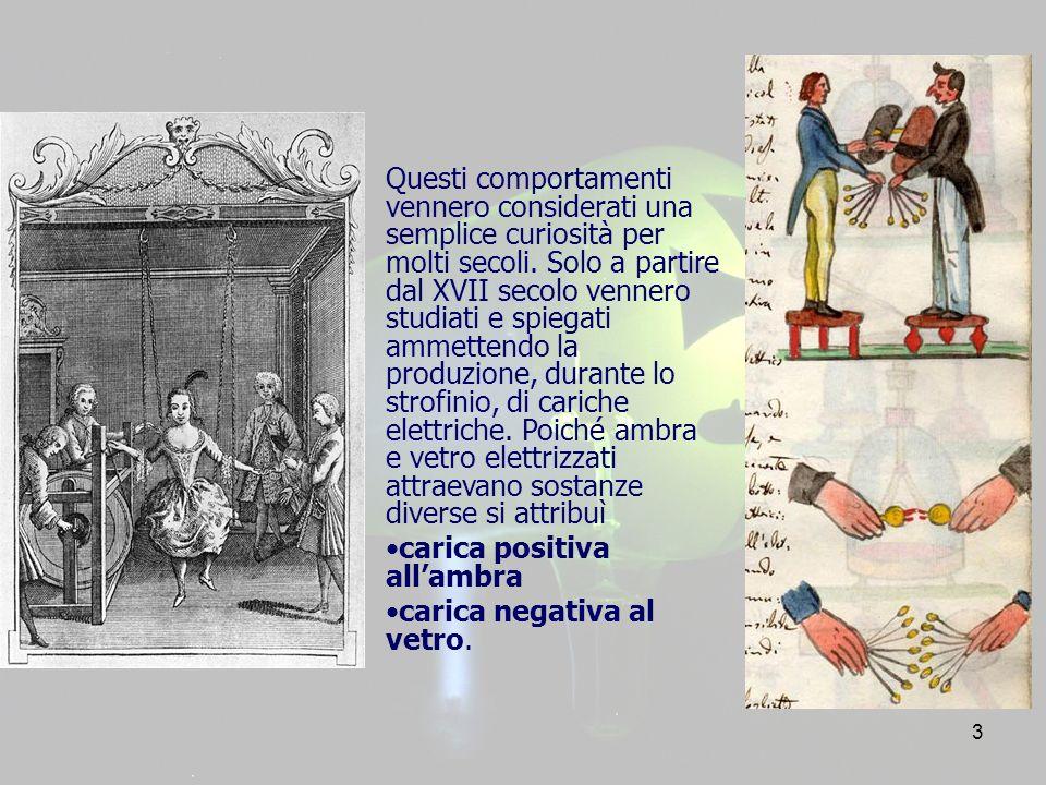 4 Gli studi condotti da Charles-Augustin de Coulomb (1736-1806) sullinterazione tra corpi dotati di carica elettrica consentirono di concludere che: