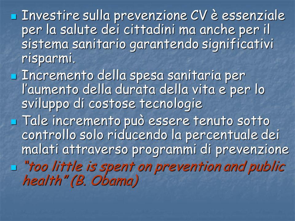 Investire sulla prevenzione CV è essenziale per la salute dei cittadini ma anche per il sistema sanitario garantendo significativi risparmi. Investire