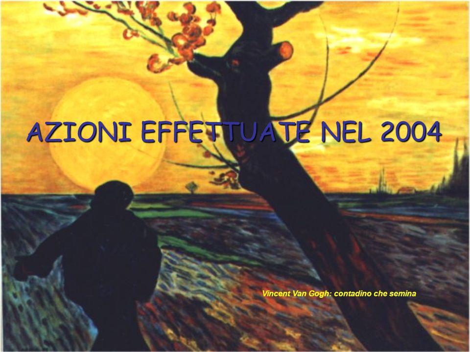 AZIONI EFFETTUATE NEL 2004 Vincent Van Gogh: contadino che semina