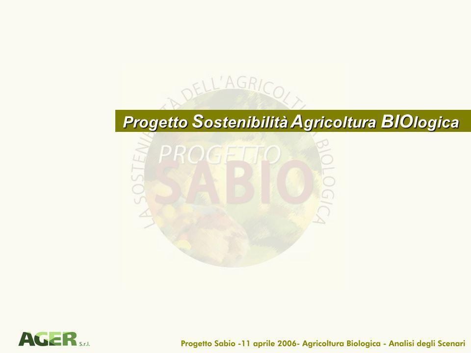 Progetto S ostenibilità A gricoltura BIO logica