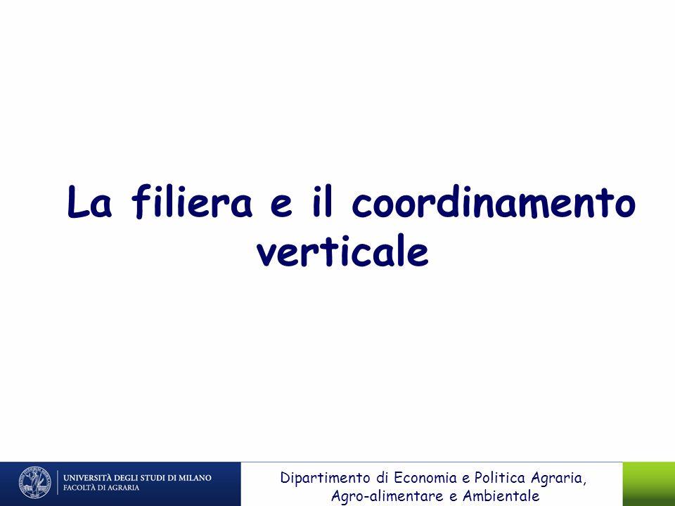 Lanalisi economica della tracciabilità e gli effetti sullorganizzazione verticale di filiera Dipartimento di Economia e Politica Agraria, Agro-alimentare e Ambientale