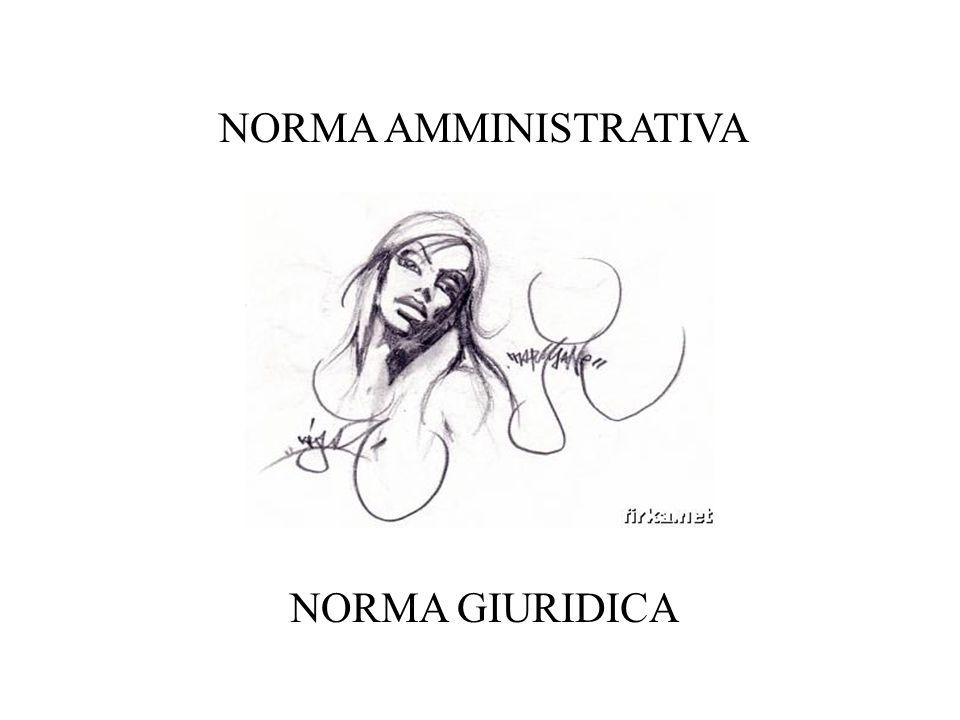 NORMA AMMINISTRATIVA NORMA GIURIDICA