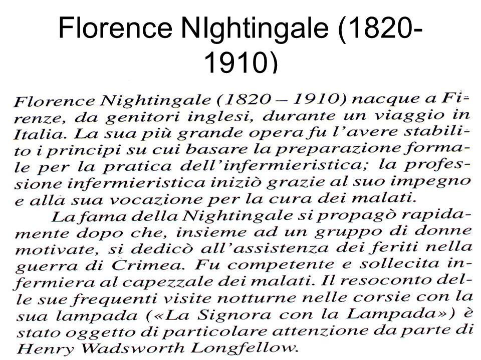 Florence NIghtingale (1820- 1910)