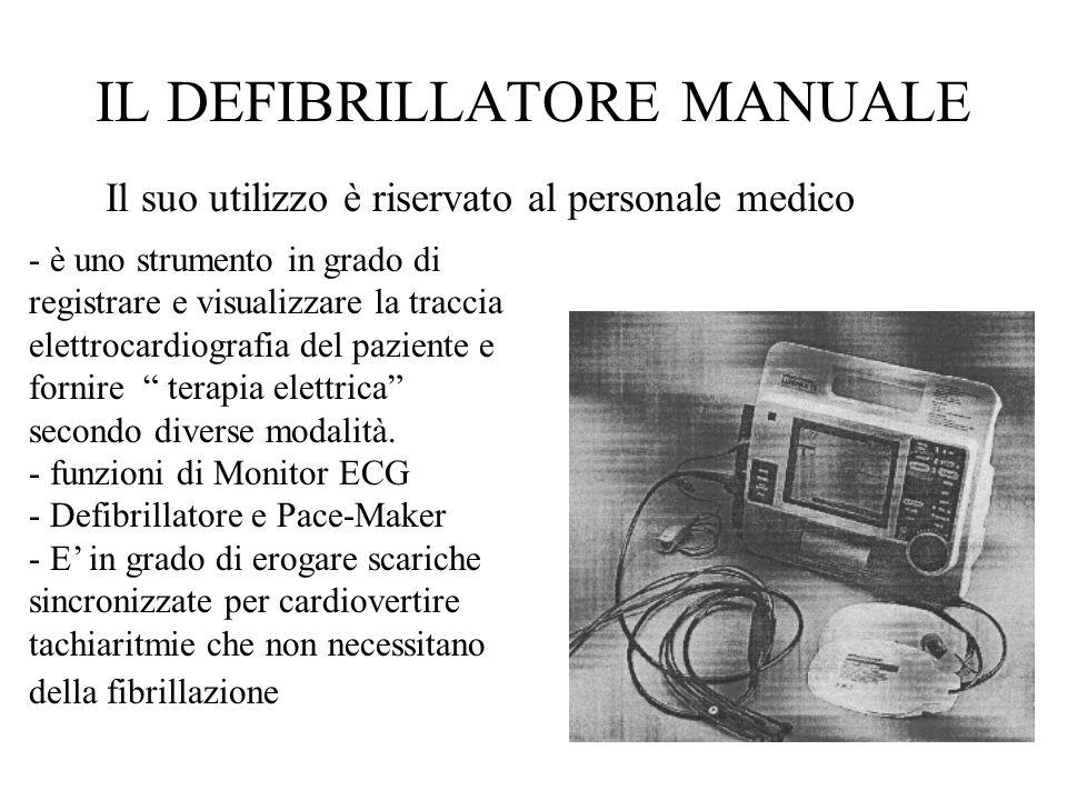 Il suo utilizzo è riservato al personale medico - è uno strumento in grado di registrare e visualizzare la traccia elettrocardiografia del paziente e fornire terapia elettrica secondo diverse modalità.