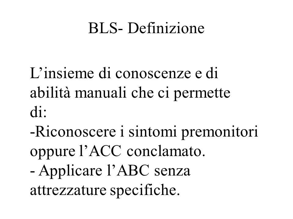 BLS-A Apertura delle vie aree (3) Cannule orofaringee