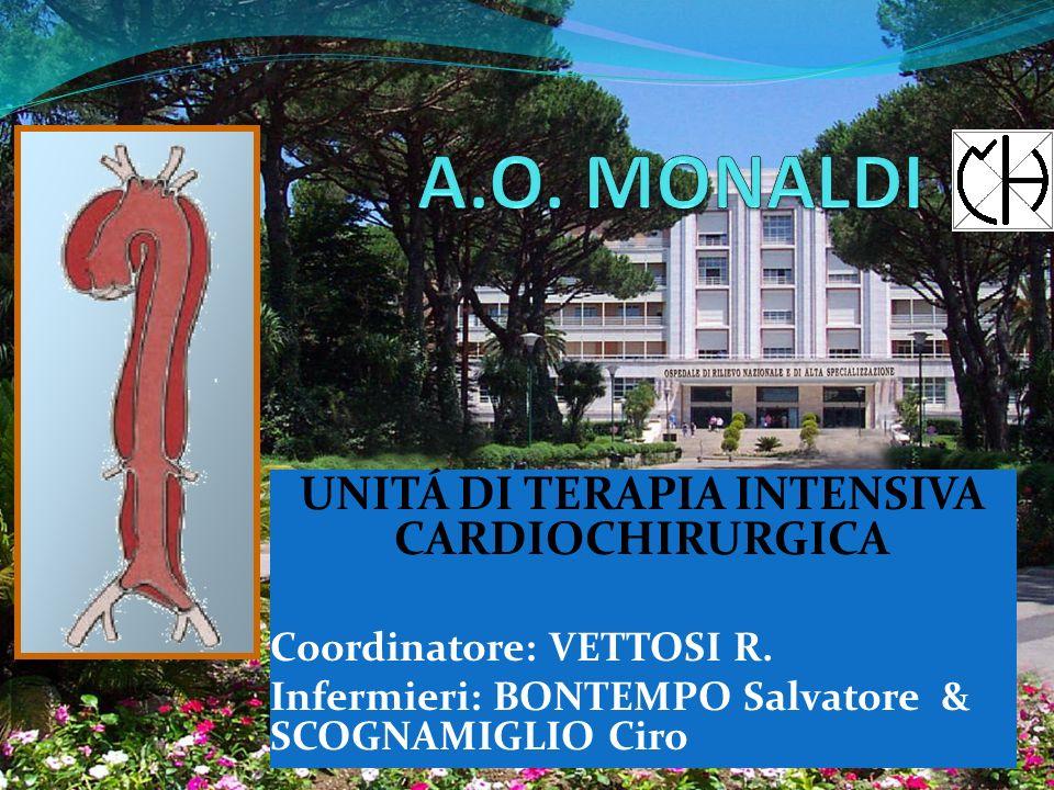 UNITÁ DI TERAPIA INTENSIVA CARDIOCHIRURGICA Coordinatore: VETTOSI R.