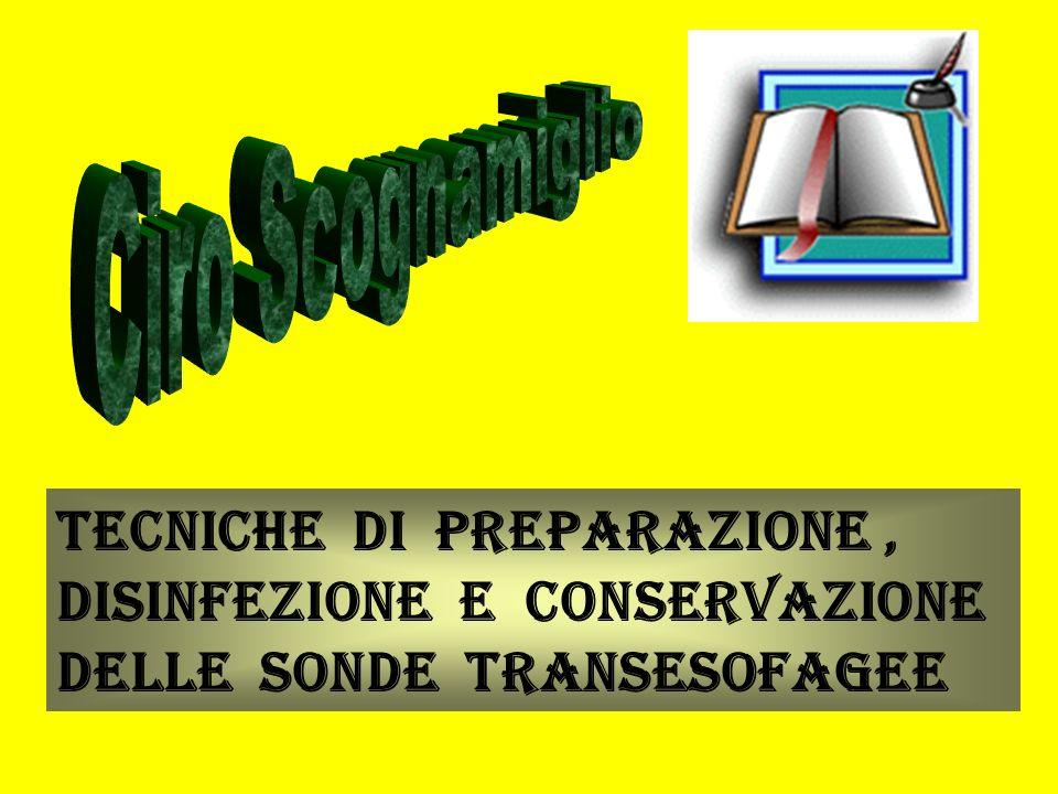 Tecniche di Preparazione, Disinfezione e Conservazione delle Sonde Transesofagee