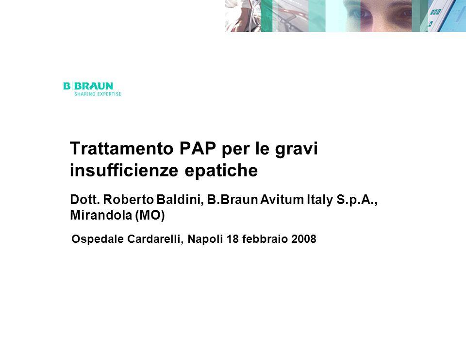 Trattamento PAP per le gravi insufficienze epatiche Dott.