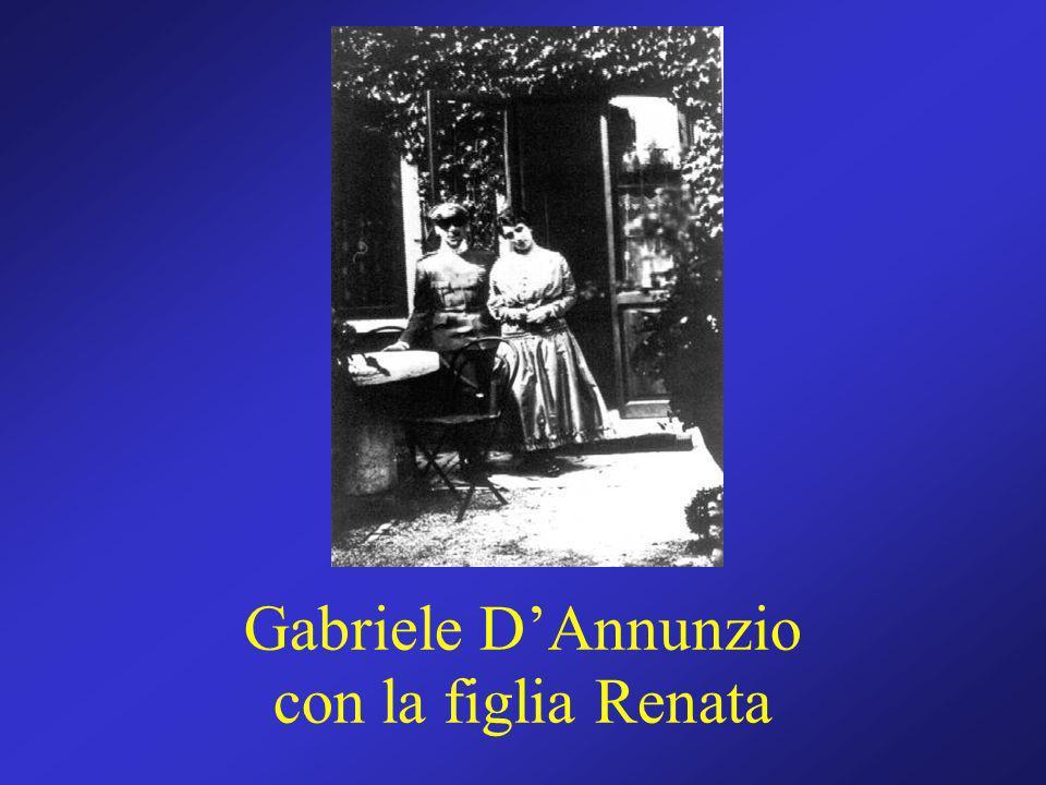 Gabriele DAnnunzio con la figlia Renata