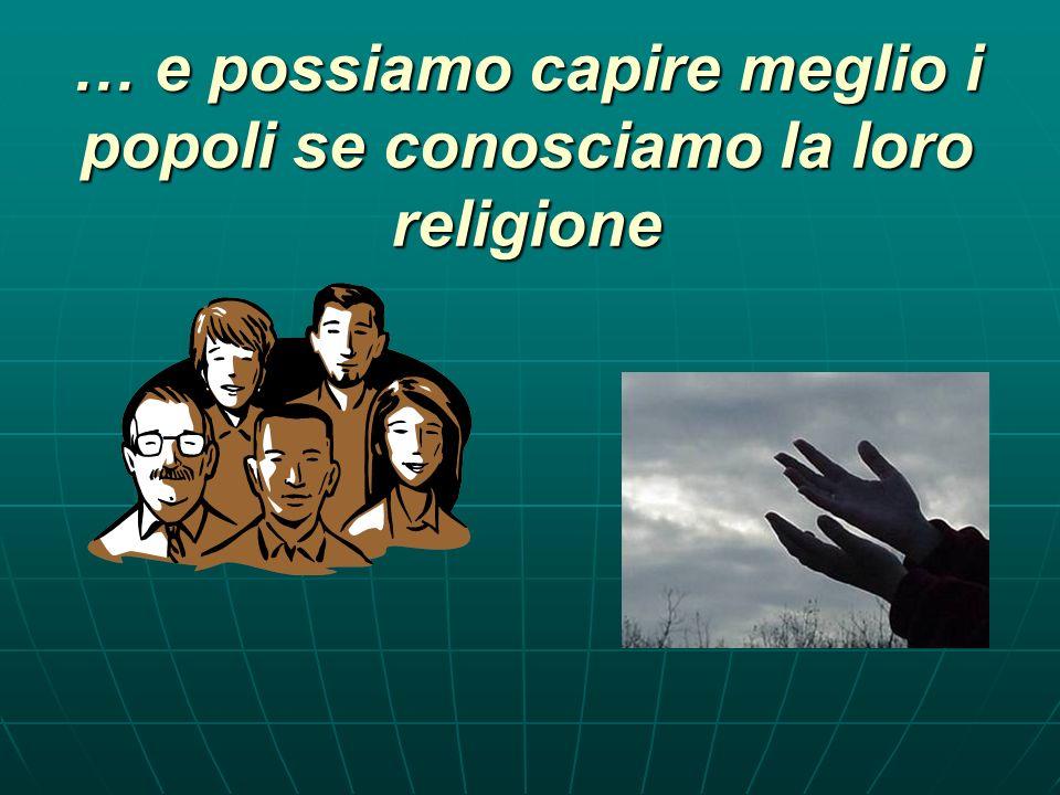 Ogni uomo, ogni popolo, ogni epoca, ha avuto la sua religione
