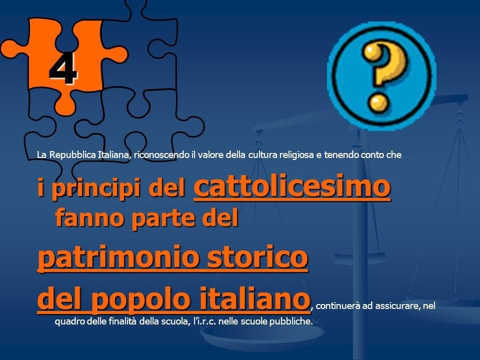 Ma come mai proprio Religione Cattolica ?