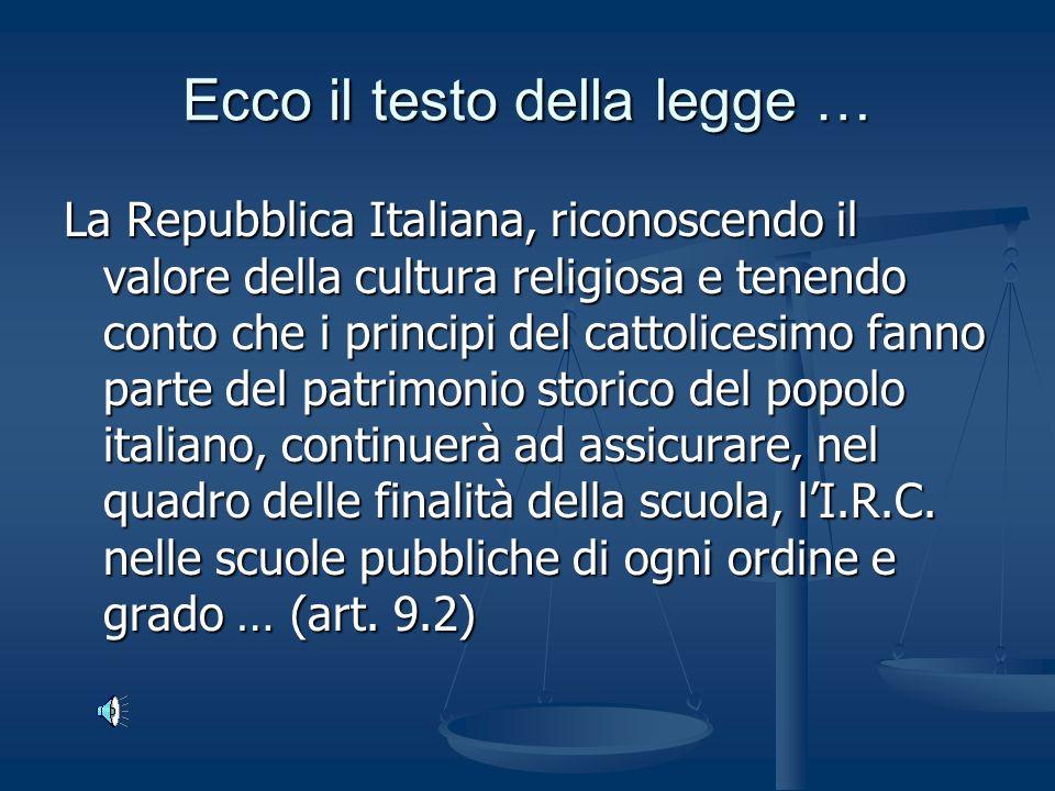 Cioè un accordo tra Stato (Repubblica Italiana) e Chiesa (Santa Sede) rinnovato nel Cioè un accordo tra Stato (Repubblica Italiana) e Chiesa (Santa Sede) rinnovato nel
