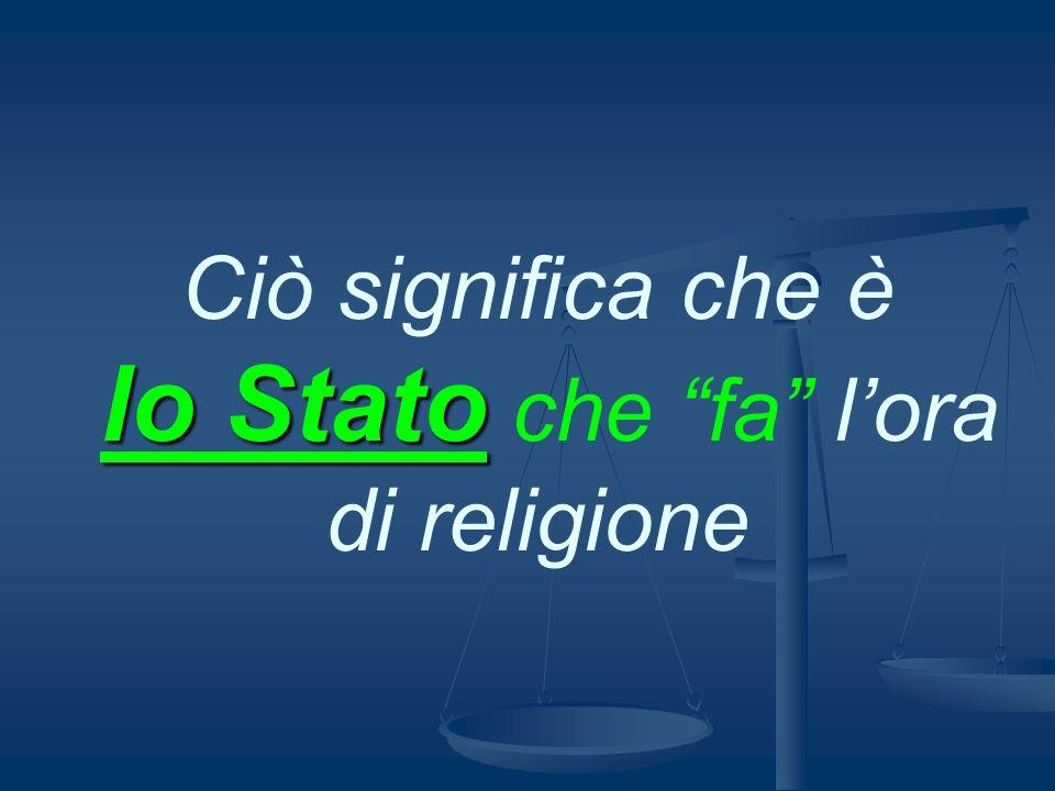 La Repubblica Italiana continuerà ad assicurare lI.R.C.