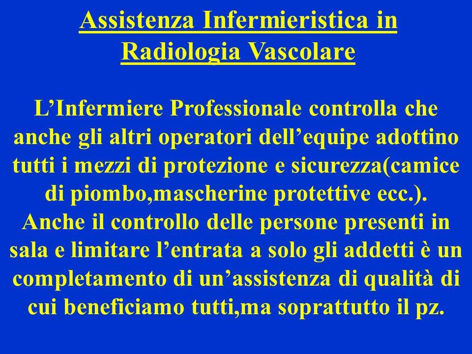 Assistenza Infermieristica in Radiologia Vascolare LInfermiere Professionale controlla che anche gli altri operatori dellequipe adottino tutti i mezzi