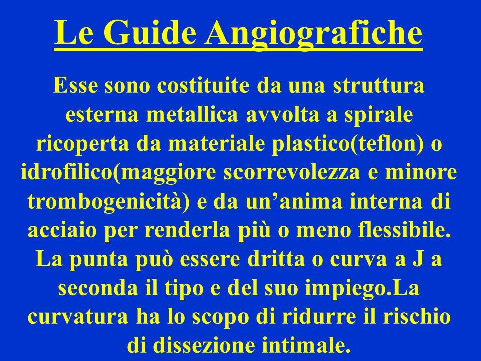 Le Guide Angiografiche Esse sono costituite da una struttura esterna metallica avvolta a spirale ricoperta da materiale plastico(teflon) o idrofilico(