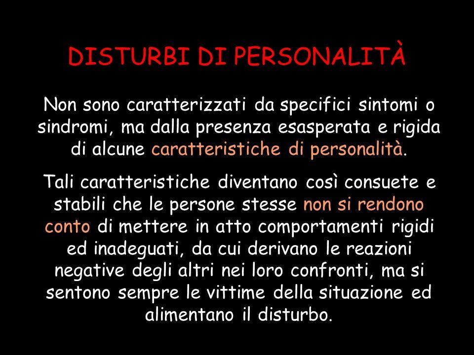 Disturbo DIPENDENTE di personalità Pervasivo ed eccessivo BISOGNO di ACCUDIMENTO, che induce a un comportamento sottomesso e alla PAURA della SEPARAZIONE 1.