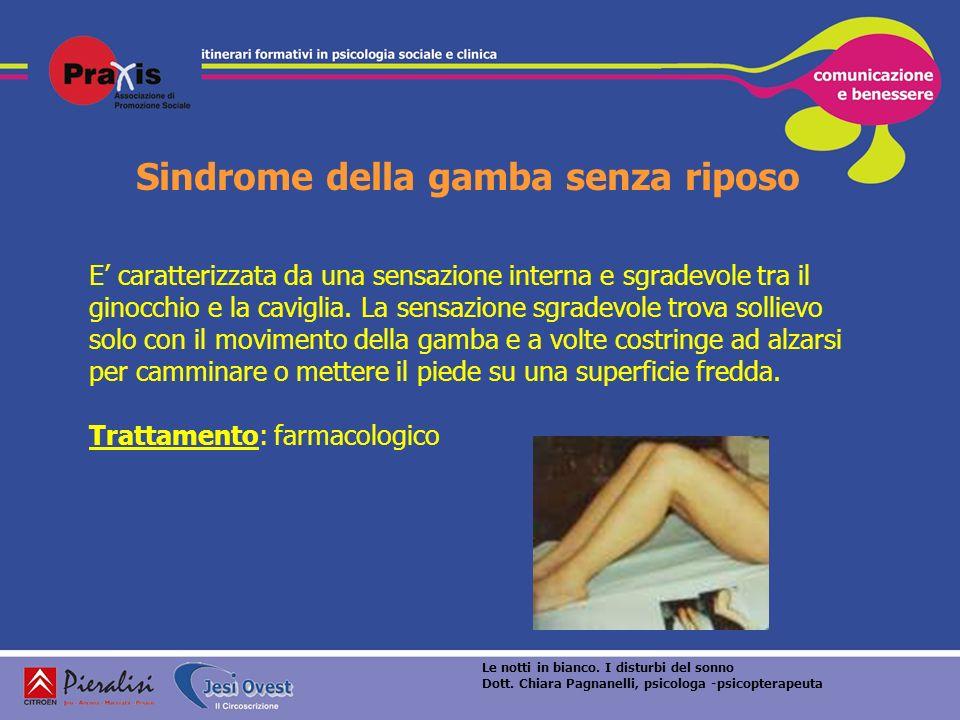 Sindrome della gamba senza riposo E caratterizzata da una sensazione interna e sgradevole tra il ginocchio e la caviglia. La sensazione sgradevole tro