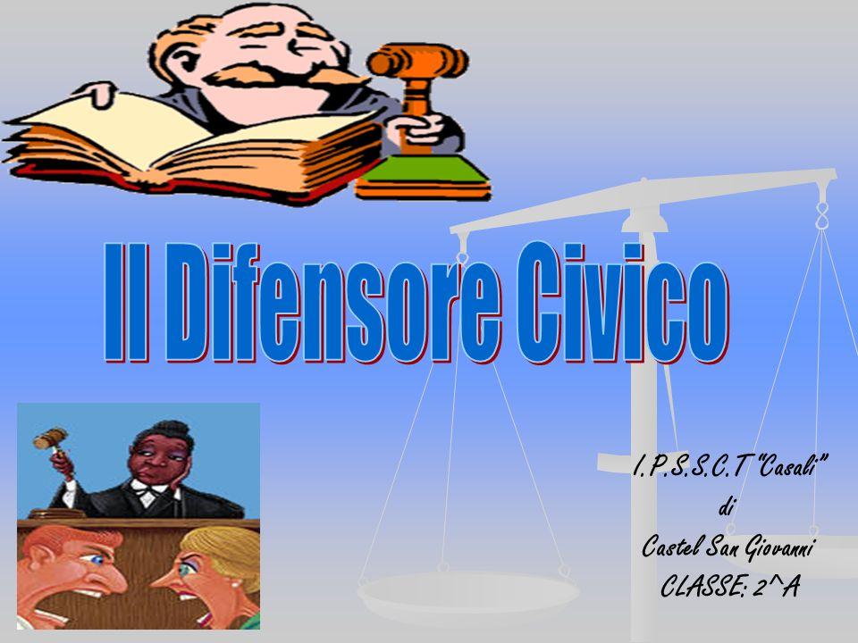I.P.S.S.C.T Casali di Castel San Giovanni CLASSE: 2^A